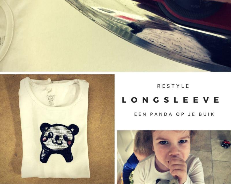 [:nl]Longsleeve shirt Restyle | Een panda op je buik![:]