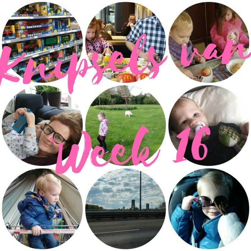[:nl]Knipsels van week 16: Tweede Paasdag, werken, tas pakken voor vakantie en veel speelgoed[:]