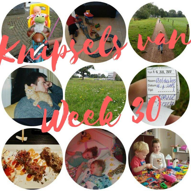 [:nl]Knipsels van week 30: een logee, heeeerlijk uit eten en de zolder opruimen[:en]Knipsels van week 30[:]