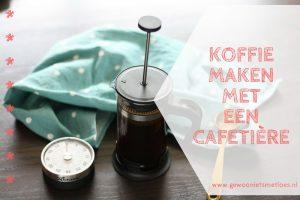 koffie maken met een cafetière