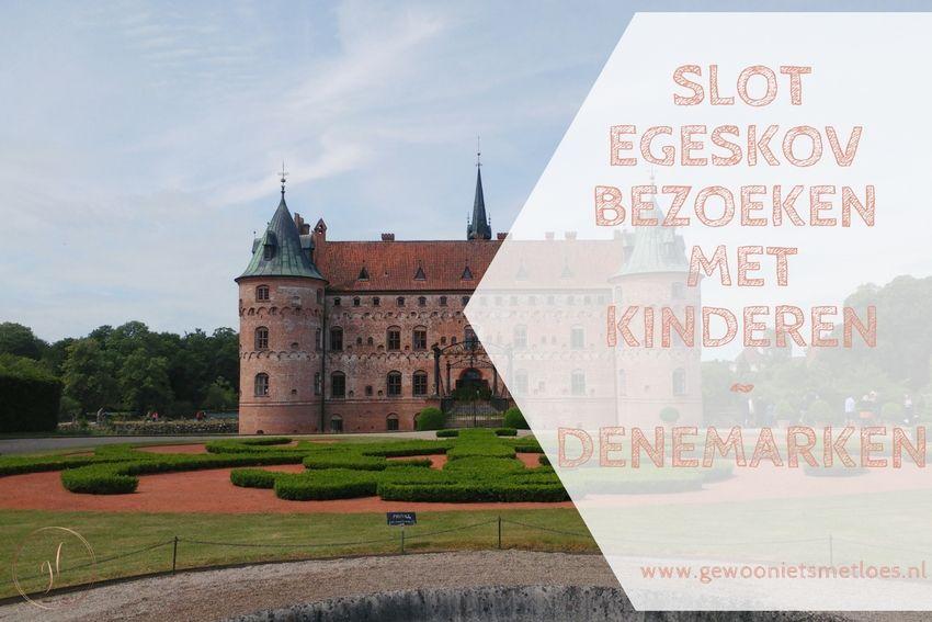 Slot Egeskov met kinderen   Denemarken