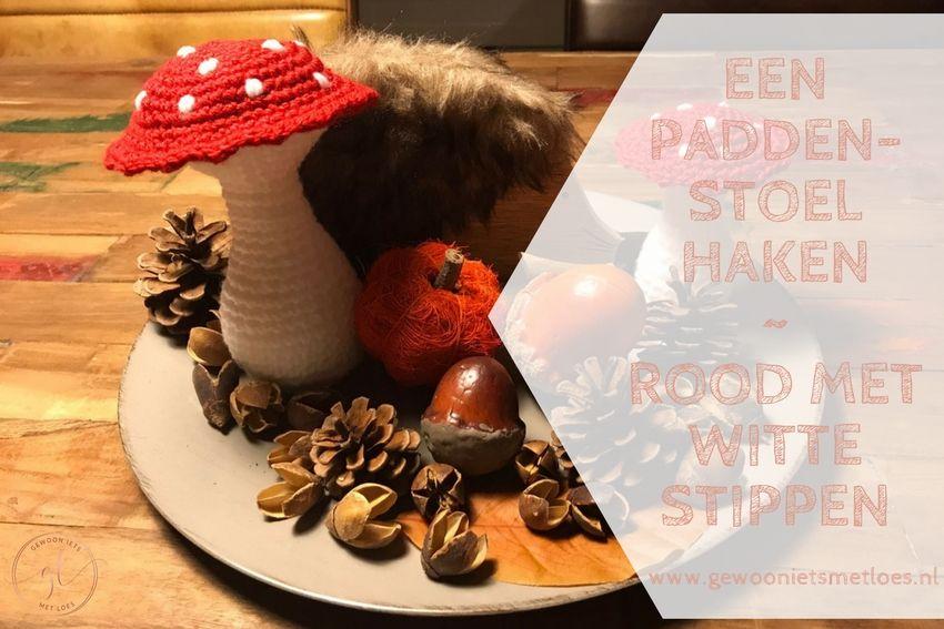 Een paddenstoel haken | Rood met witte stippen