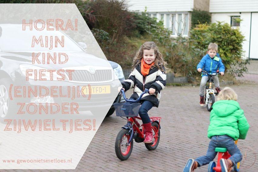 Hoera! Mijn kind fietst zonder zijwieltjes! | Mijlpaal