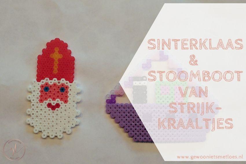 Sinterklaas en stoomboot van strijkkraaltjes | DIY