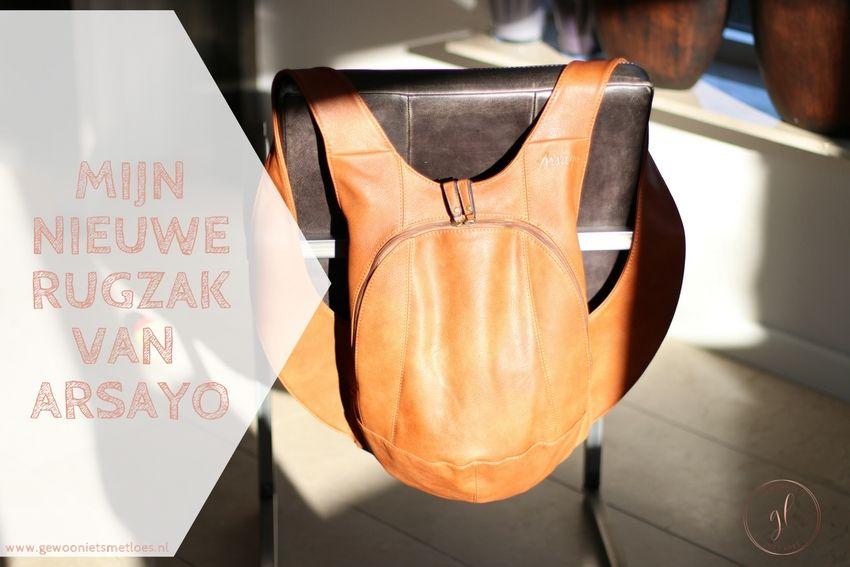 [:nl]Mijn nieuwe rugzak van Arsayo[:]