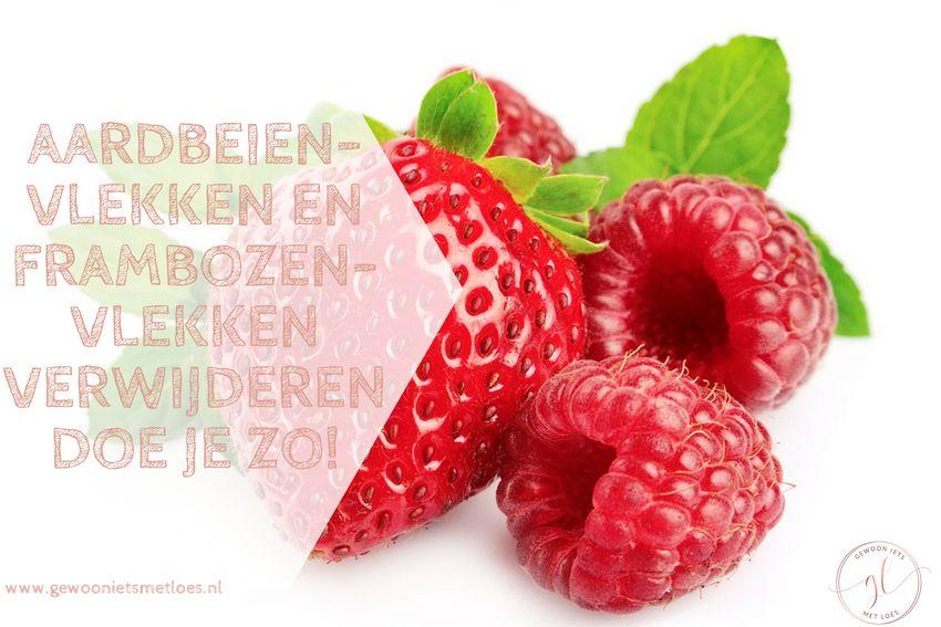 Aardbeienvlekken en frambozenvlekken verwijderen doe je zo!