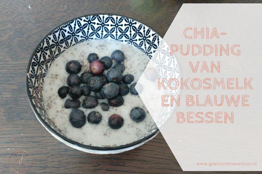 Chiapudding met kokosmelk en blauwe bessen | Recept
