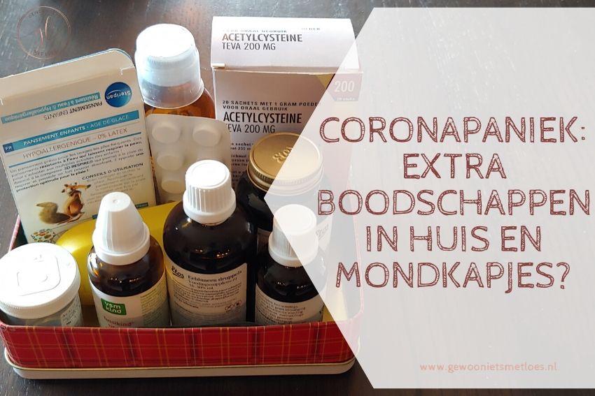 Coronapaniek: extra boodschappen in huis