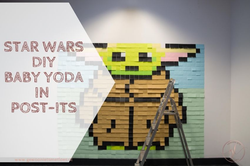 Star Wars DIY : Baby Yoda in Post-its