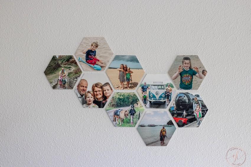 jouw foto op hexagontegels