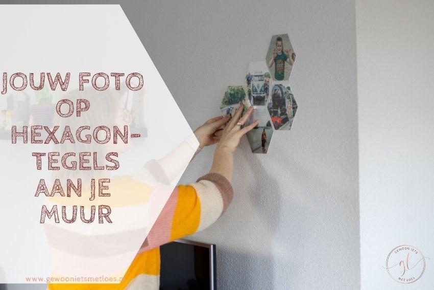 Jouw foto op hexagontegels aan je muur