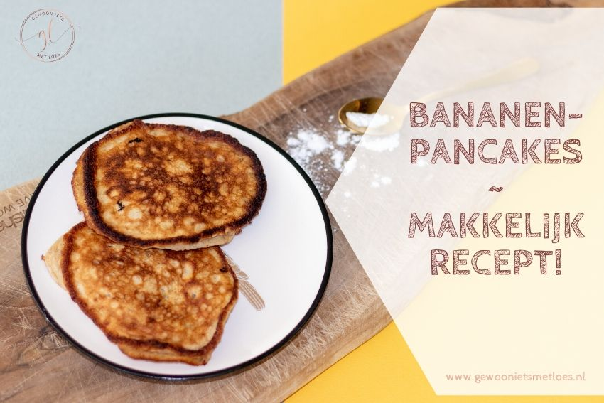 Supermakkelijk recept voor bananenpancakes